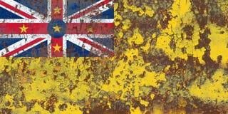 Niue grunge flag, New Zaeland dependent territory flag.  Stock Photography