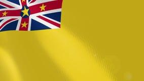 Niue realistic flag animation. vector illustration