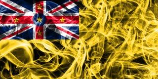 Niue smoke flag, New Zaeland dependent territory flag.  Stock Image