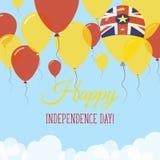 Niuiskt kort för självständighetsdagenlägenhethälsning Stock Illustrationer