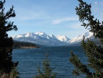 Niut mountains. And tatlayoko lake canada bc royalty free stock images