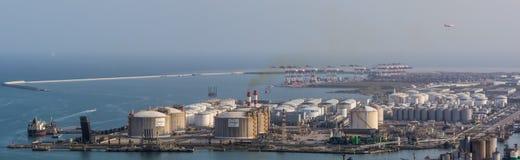 Nivå över den Barcelona kraftverket royaltyfria bilder