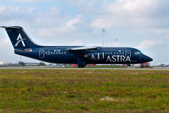 Nivå BAe-146-300 Royaltyfria Bilder