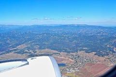 Nivå för flyg för flyg- sikt för Bulgarienlandskap Royaltyfria Bilder