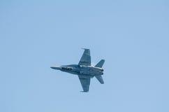 Nivå för kämpe F-18 arkivbild