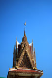 Nivå skjuten thai tempel i Thailand Fotografering för Bildbyråer
