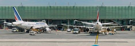 nivåer för luftflygplatsfrance panorama Royaltyfri Fotografi
