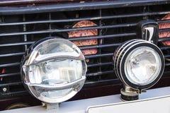 Niva car headlights Royalty Free Stock Photos