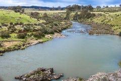 Tasmanian Nive River. Nive River landscape in Tasmania, Australia stock photo