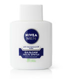 Nivea for men - after shave balm for sensitive skin isolated on white Stock Photo