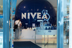 Nivea Shop on Unter den Linden. BERLIN - JULY 30: Nivea Shop on Unter den Linden. Nivea is a global skin-and body-care brand that is owned by the German company Stock Image