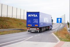 Nivea truck Royalty Free Stock Photos