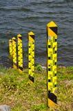 Niveau d'eau dans le barrage Photo stock