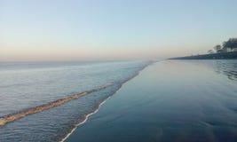 Niveau de la mer d'océan photographie stock