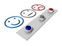 Niveau de satisfaction Image libre de droits