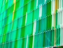 niveau en plastique acrylique de l'intérieur sept de feuille quelque blanc et couleur Images stock