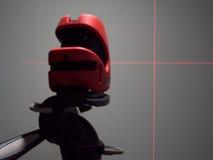 Niveau et lignes de laser sur le mur Photo libre de droits