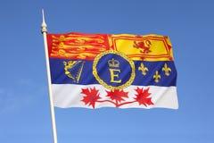 Niveau royal de Canada - norme royale canadienne Images libres de droits