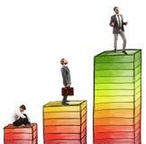 Niveaus van carrière stock afbeelding