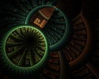 Niveaus van cirkels - aardetonen stock foto's