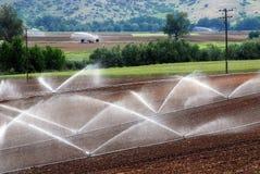Niveaux agricoles d'irrigation Images stock