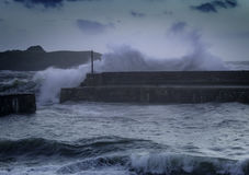 Niveaux en hausse de mer de changement climatique photographie stock libre de droits