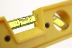 Nivel de alcohol amarillo Imagen de archivo libre de regalías