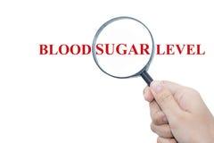 Nivel de azúcar de sangre fotografía de archivo