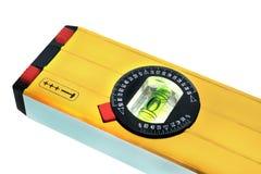 Nivel de burbuja de aire amarillo Foto de archivo libre de regalías
