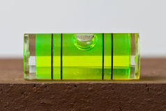 Nivel de burbuja de aire en superficie Imágenes de archivo libres de regalías