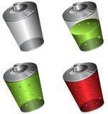 Nivel de la carga de la batería Ilustración del Vector