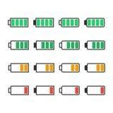 Nivel de la carga de la batería del icono Foto de archivo