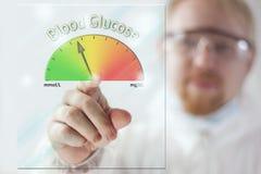 Nivel de la glucosa en sangre Foto de archivo libre de regalías