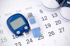 Nivel de la glucosa en sangre de la prueba Imágenes de archivo libres de regalías
