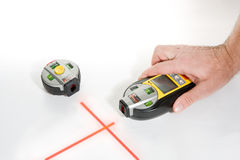 Nivel electrónico del laser Fotos de archivo