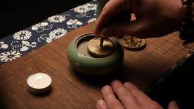 Nivelación de incienso Ceremonia de t? china
