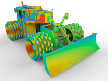 Niveladora del arco iris usada para despejar nieve ilustración del vector