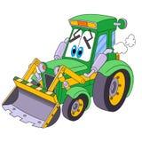 Niveladora del tractor de la historieta libre illustration
