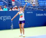 Quatro práticas de Maria Sharapova do campeão do grand slam das épocas para E.U. abrem Imagem de Stock
