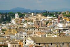 Nivelamento sobre Roma Fotografia de Stock