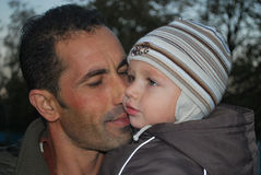 Pai e filho Fotos de Stock Royalty Free