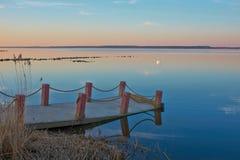Nivelando a baía calma Imagem de Stock