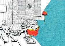 Nivelando em casa a cor Fotografia de Stock