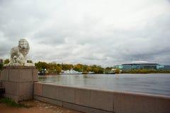 Nivelando em outubro, caminhada ao longo da ilha de Elagin Imagens de Stock Royalty Free