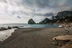 Nivelando o seascape crimeano Imagem de Stock
