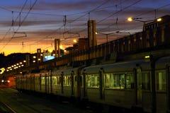 Nivelando o trem Foto de Stock Royalty Free