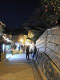 Nivelando a vista de Ninen-zaka higashiyama Kyoto Jap?o fotos de stock royalty free