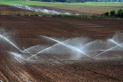 niveles agrícolas de la irrigación Fotografía de archivo