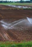 Niveles agrícolas de la irrigación Fotos de archivo libres de regalías
