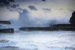 Niveles de levantamiento del mar del cambio de clima Imagen de archivo